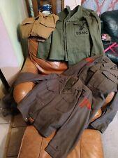 1942 WW2 USMC LOT Herringbone Utility outfit  + shirt and 2 jackets NAMED