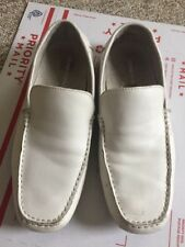 Kenneth Cole Mens Driver Ed Shoes (Us 8)White