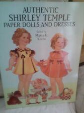 Authentic Shirley Temple Paper Dolls & Dresses Uncut