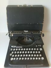 Antique 1927 ROYAL Portable Model P Typewriter Black - Original Wood Case - RARE