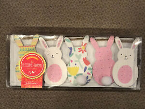 Spring Easter Bunny Rabbit Garland Farmhouse Cottage Blossoms + Blooms Boutique