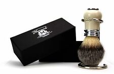 Syntactic Hair Brush With the Antique designed handle in Ivory &Metal with Stand