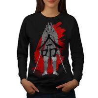 Wellcoda Japanese Katana Womens Sweatshirt, Katana Casual Pullover Jumper