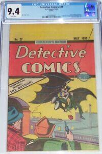 Detective Comics #27 CGC 9.4 Oreo Cookies giveaway. Reprints 1st Batman