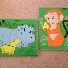 Playskool Vintage Wooden Puzzles For Sale Ebay