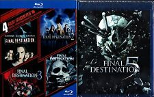 FINAL DESTINATION 1 2 3 4 5 BLU RAY 5 DISC SET REGION FREE
