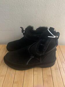 Women's UGG Ester Black Suede Boots Sz 8