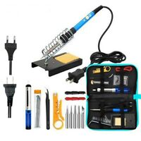 Soldering Welding Plastic Iron Pen Tool Adjustable Electric Heater 110V/220V Set