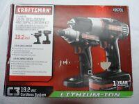 """Craftsman 11550X 1/2"""" Drive C3 19.2V Li-lon Drill & Impact Drive Kit - p/n 35701"""