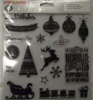 "Fiskars 105940-1001 Teresa Collins 4"" x 8"" Clear Stamp Twas The Night Before"