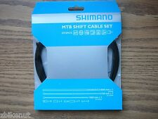 Black Shimano PTFE Shift Cable & Housing Kit Bicycle Gear Cable MTB Bike New