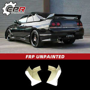 For Nissan Skyline R33 GTR TS Style FRP Rear Bumper Spats Add On Extension Trim