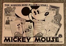 WALT DISNEY  MICKEY MOUSE  MOTION PICTURE NEWS  APRIL 13, 1931  CENTERFOLD