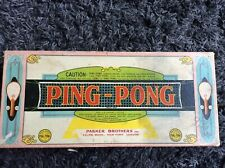Vintage 1920s Parker Brothers Ping-pong Set.