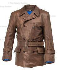 WW1 German fighter pilots leather coat BROWN - made to order