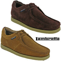 Lambretta Wallabee Classic Leather Shoes Mens Retro Flat Cushioned Soft UK 7-12