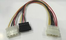 NEW 4 Pin IDE Molex to SATA and Molex Power Cable Splitter Adapter Aus Stock