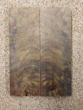 Bookmatched White Oak Burl Knife Scales