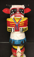 Antique Cow (Wakas) Kachina Hopi Route 66 Native American Wood Carving 1940-50's