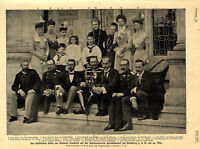 Fürstliche Gäste der Kaiserin Friedrich Schloß Friedrichshof Kronberg v. 1900