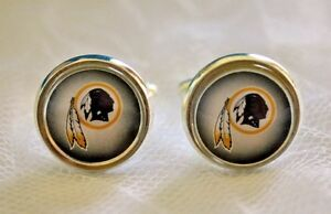 Washington Redskins Cufflinks made from Football Cards, Gift for Men, Dad