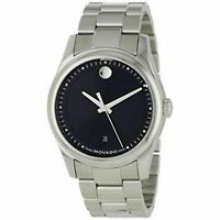 Movado Swiss 0606481 Men's Sportivo Black Dial Stainless Quartz Watch