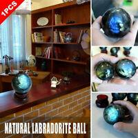 Natural Labradorite Rose Quartz Amethyst Sphere Crystal Citrine Ball New He L7I4