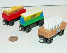 Thomas & Friends Wooden Railway Train Tank Sodor Bakery Delivery Cars Milk Flour