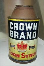 vintage tin Crown Brand corn Syrup cone shape Canada Starch co Cardinal, Ont