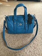 MARC JACOBS Blue Aquamarine Totally TURNLOCK SATCHEL TOTE BAG $478 CROSSBODY