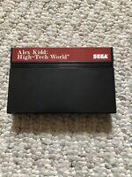 Alex Kidd: High Tech World-Sega Master System Cartridge-authentic- Tested-VG!!
