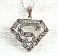 1.25ct Natural Garnet Solid 925 Sterling Silver Pendant & Chain