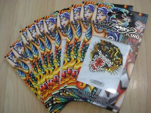Pack of 10 Ed Hardy 'Tiger' Peel & Stick Crystal Decals Bling Your Phone NEW
