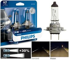 Philips VIsion 30% H7 55W Two Bulbs Head Light Low Beam Replacement Upgrade OE