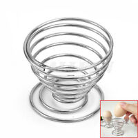 4x Silver Stainless Steel Spring Wire Tray Boiled Egg Cups Holder Stand Storage