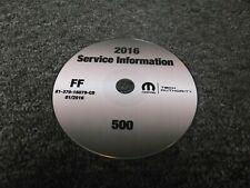 2016 Fiat 500 Service Repair Manual CD Pop Easy Sport Turbo Lounge Abarth 1.4L