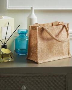 Westford Mill Shimmer Gold jute bag Gift Christmas Birthday Bottle shopper