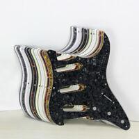 ST Gitarre SSS Schlagbrett Kratzplatte 8 Löcher mit Schrauben für Strat Gitarre