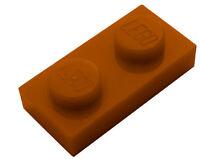 Lego 50 Stück Platte 1x2 in dunkel orange 3023 dunkelorange Platten Basics Neu