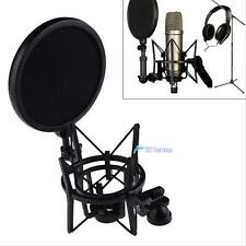 Audio Condenser Microphone Mic Sound Speech Studio Recording With Shock Mount TL