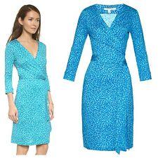 SZ10 $398 NWT DIANE VON FURSTENBERG New Julian Two Silk Wrap Dress Petal Dreams