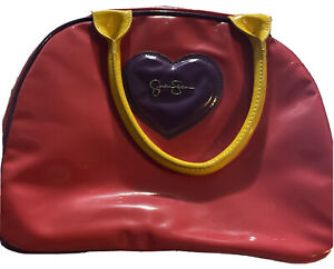 JESSICA SIMPSON VINTAGE -MAKE-UP BAG- PINK / PURPLE/YELLOW Good Condition