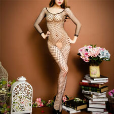 Women Fishnet Open Crotch Body Stocking Bodysuit Nightwear Lingerie