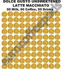Dolce Gusto Latte Macchiato Unsweetened 100 Capsule 50 Coffee/ Milk Sold Loose