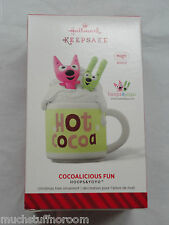 2014 Hallmark Ornament COCOALICIOUS FUN Hoops & Yoyo NEW Magic sound FREE S&H