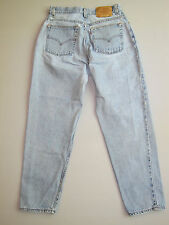 Vintage Levi's 550 High Waist Denim Mom Jeans Blue Tapered 12 Boyfriend 30""