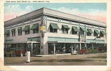 Postcard Florida FL Vero Beach Vero Bank and Trust Co. c1915-20s Unused