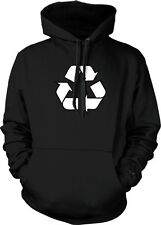 Universal Recycling Symbol Environmentally Friendly  Hoodie Pullover
