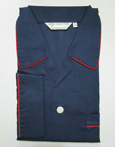 DEREK ROSE MENS PYJAMAS - XL - 100% COTTON PJ - RRP. £125 SAVOY CLASSIC NAVY BLU