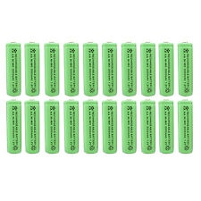 20 x AA 2A 3000 (Actual 300mAh) 1.2V Ni-MH NiMH Rechargeable Battery Cell Green
